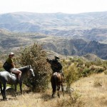 Horse back riders in Khrosov Forest Armenia